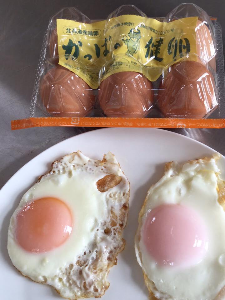 かっぱの健卵の目玉焼き