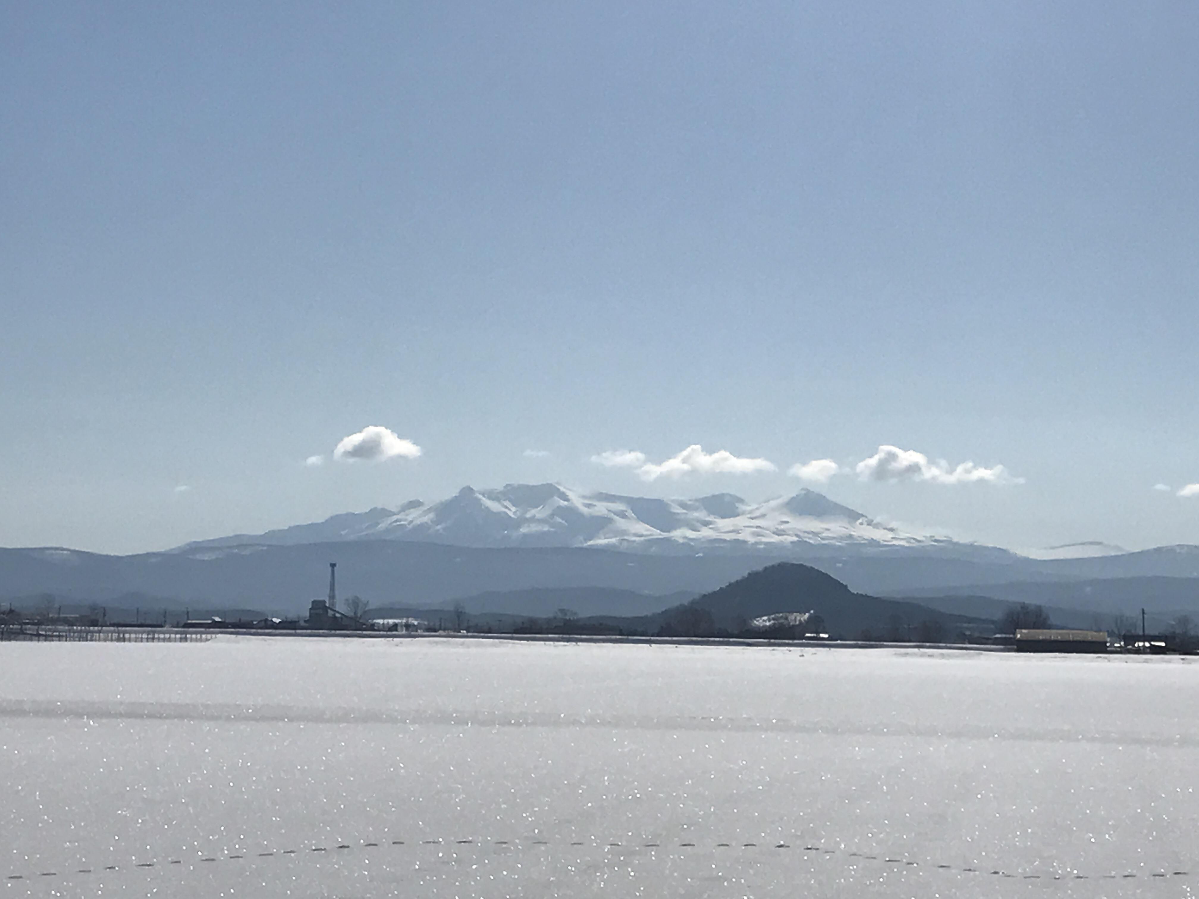 比布町内から見た大雪山