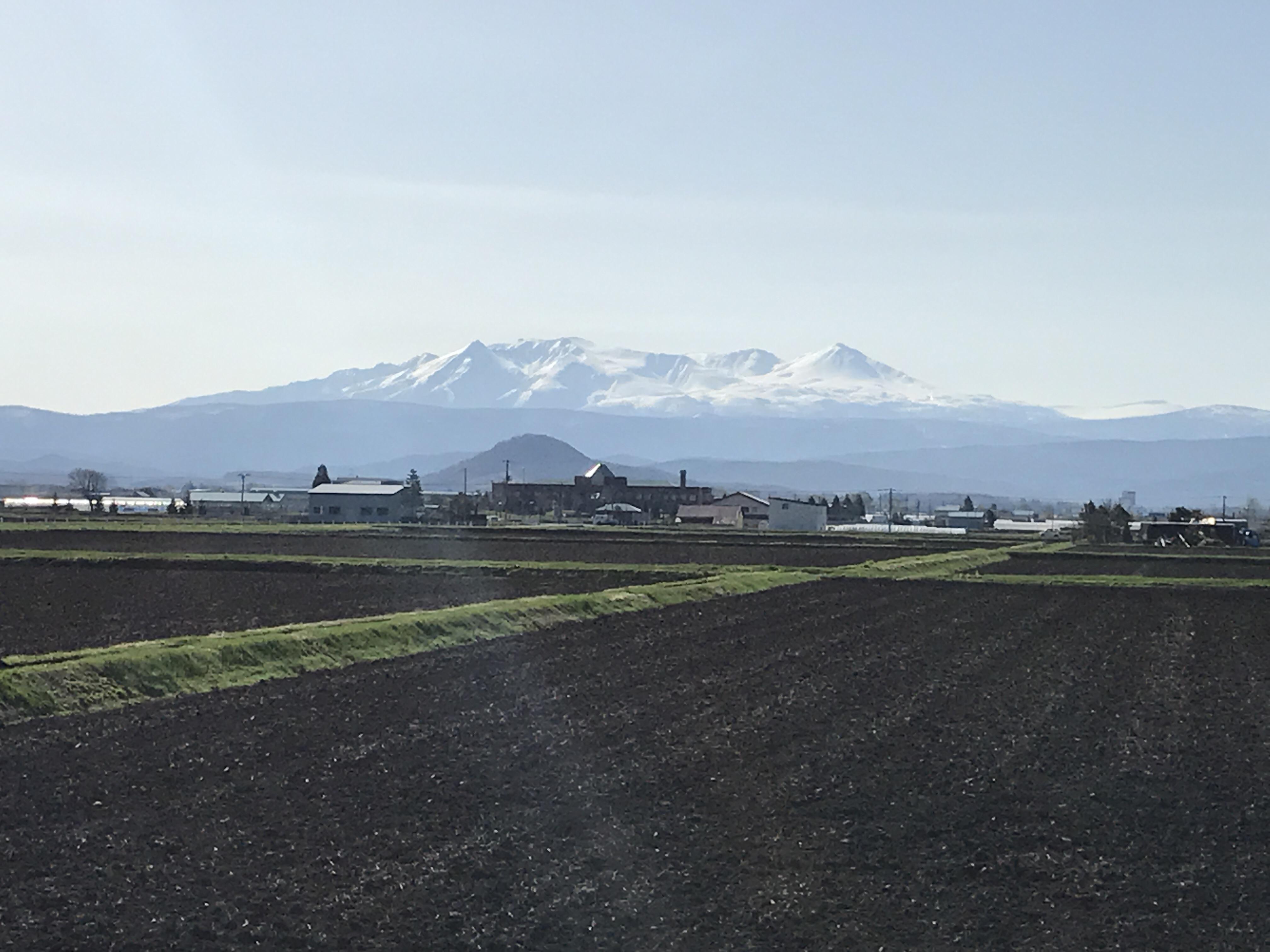 比布町の自慢の景観、大雪山