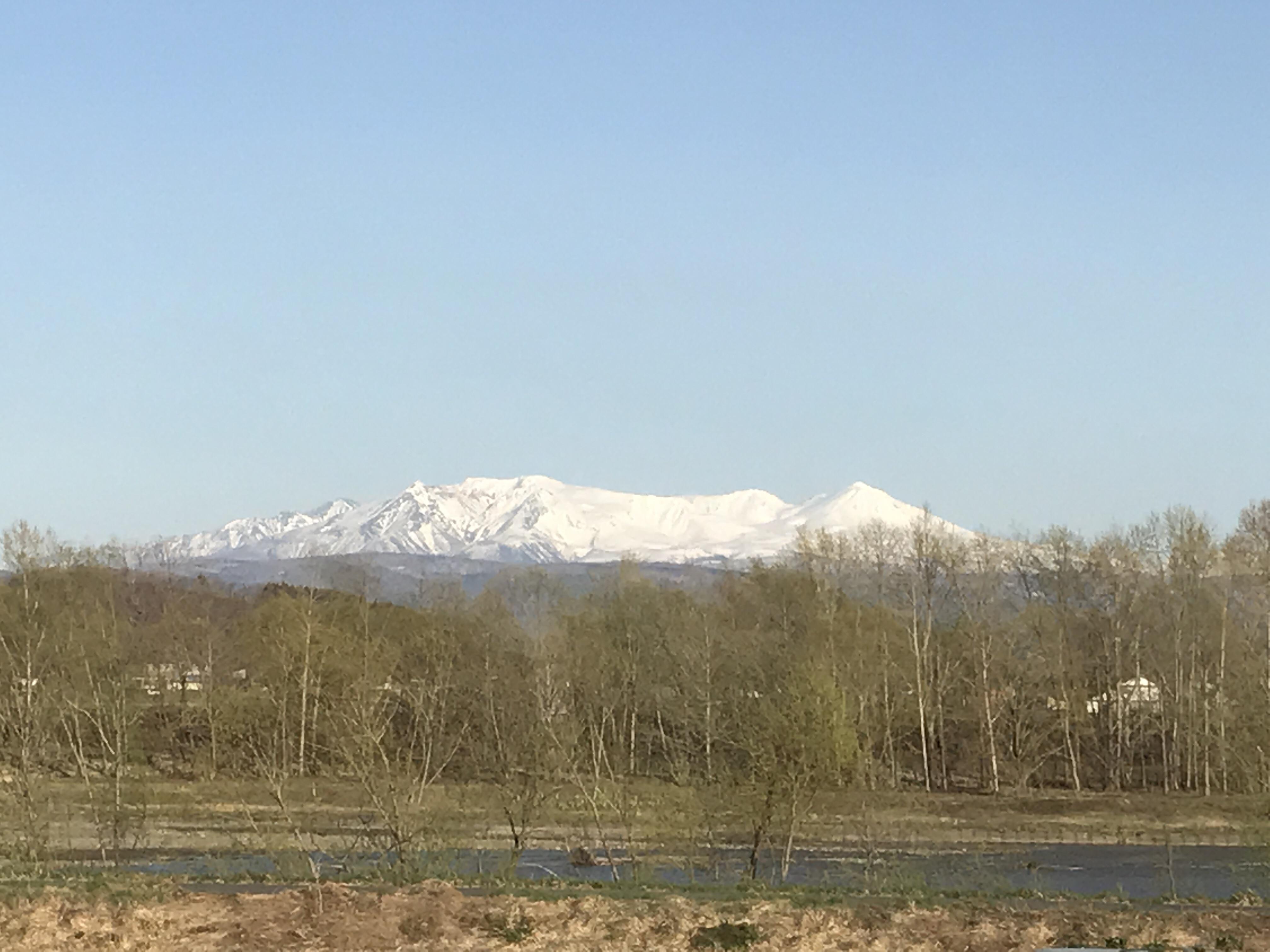 夕方17時ころの大雪山