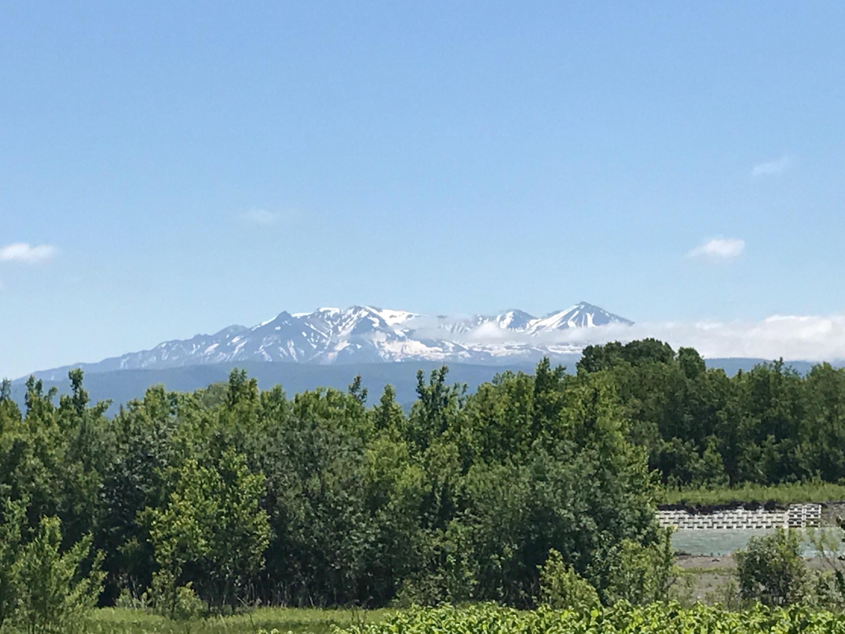 雪融け進んだ大雪山