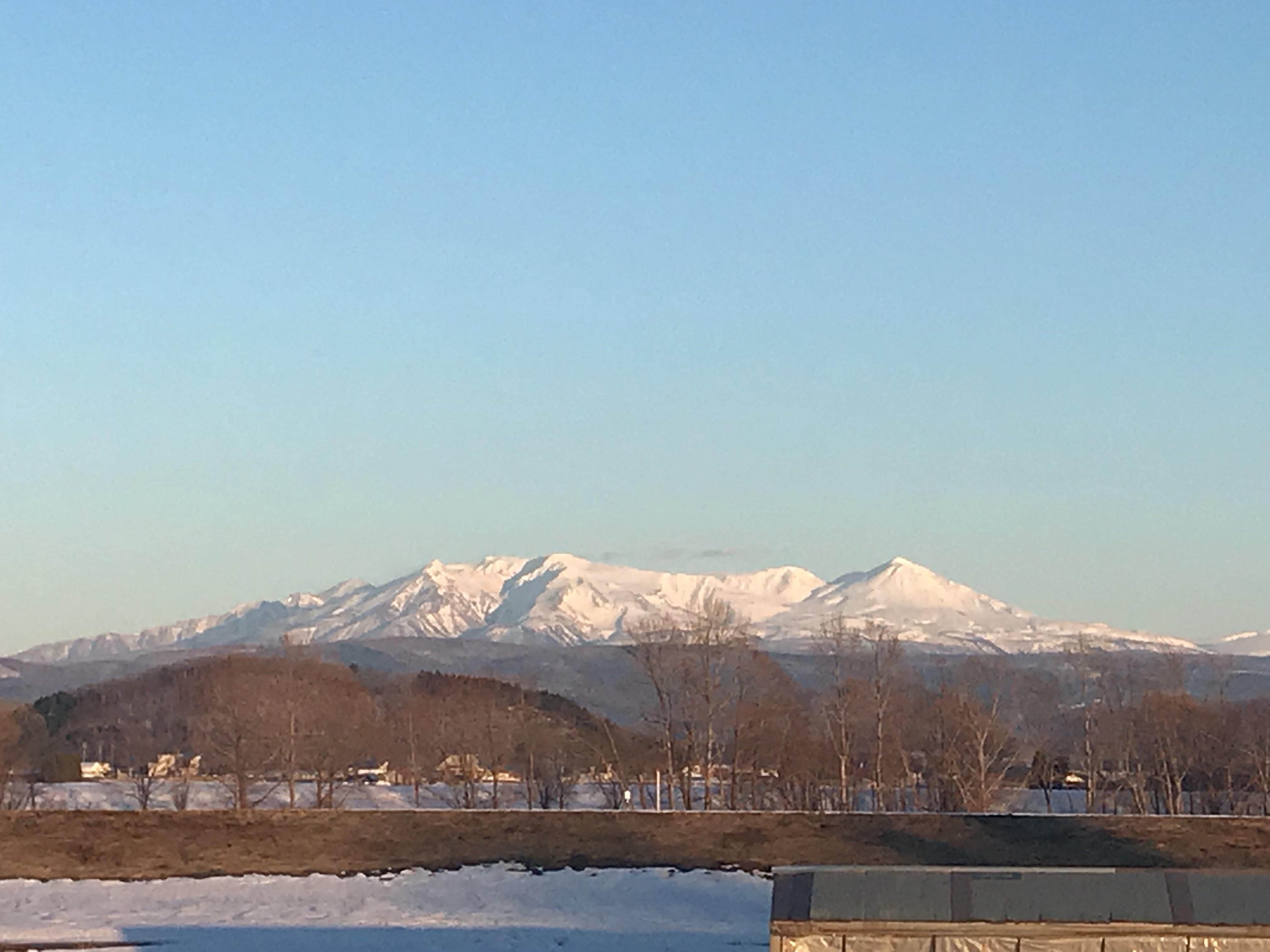 3月30日夕方の大雪山