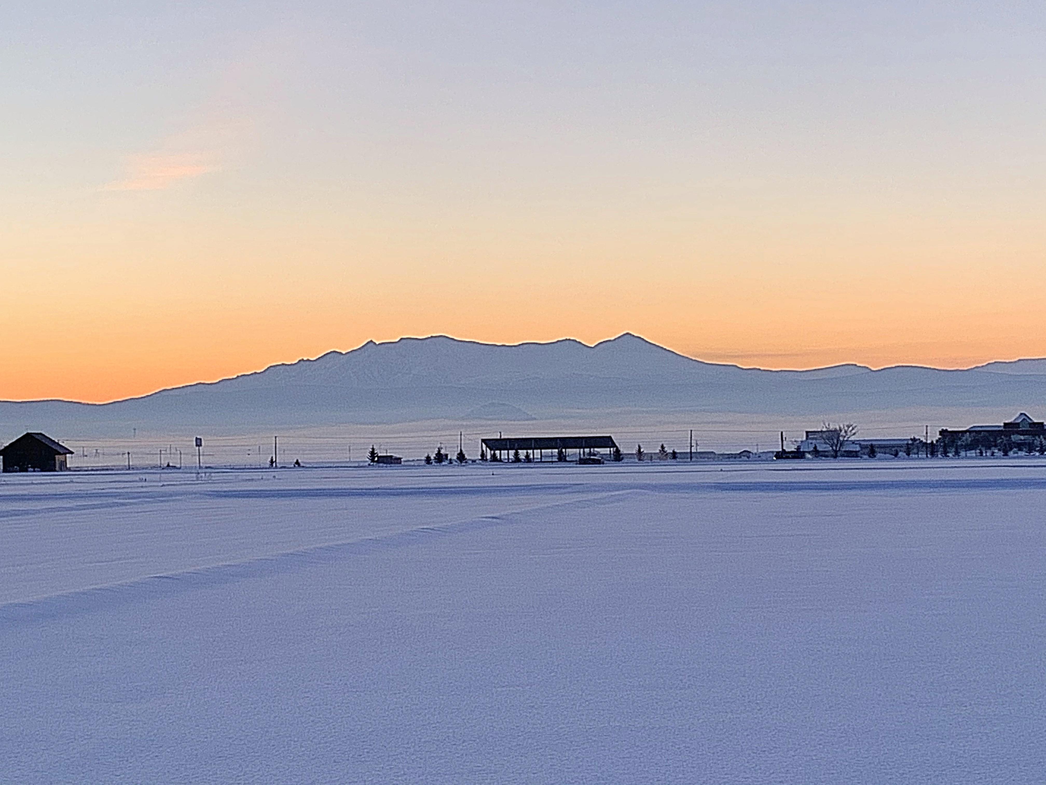 2020.1.28 AM6:45の大雪山